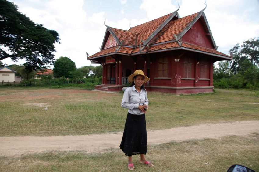 Miss Tek Nim, Orm Laeng communal council Chief at her office, Thporng district, Kampong Speu province. Heng Chivoan