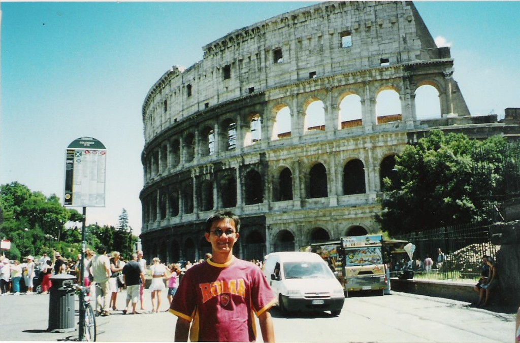 At Colosseum, Rome, Italy, 2005