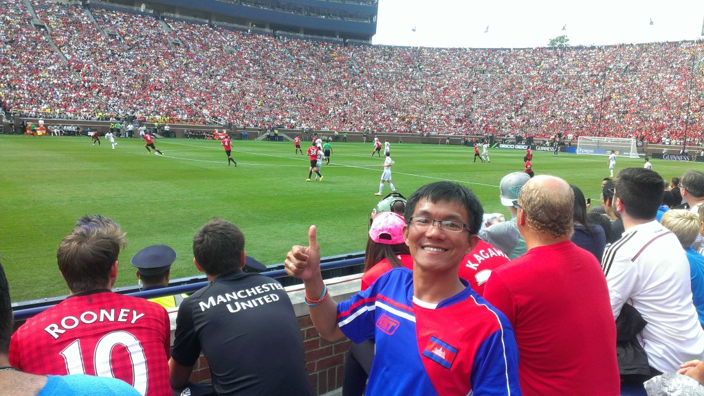 Chevrolet cup: Real Madrid Vs Manchester United, Michigan, USA, August 2, 2014. Break world soccer record: 109,318 attendants