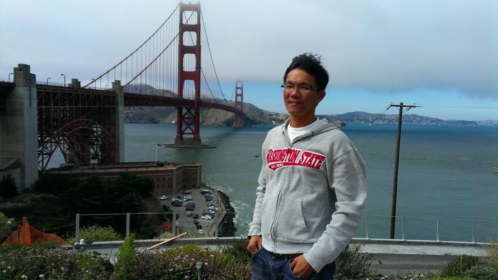 Golden Gate bridge in San Francisco, California, USA, 2014