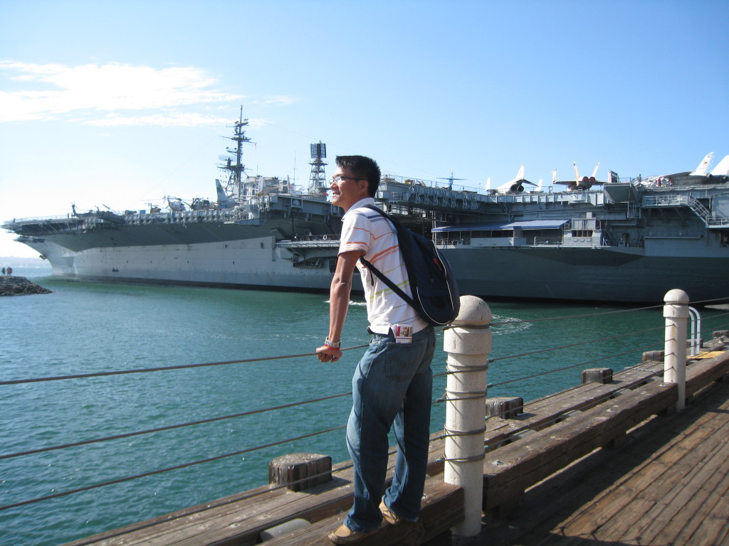 Visited Navy Marines Base in San Diego, USA, 2012