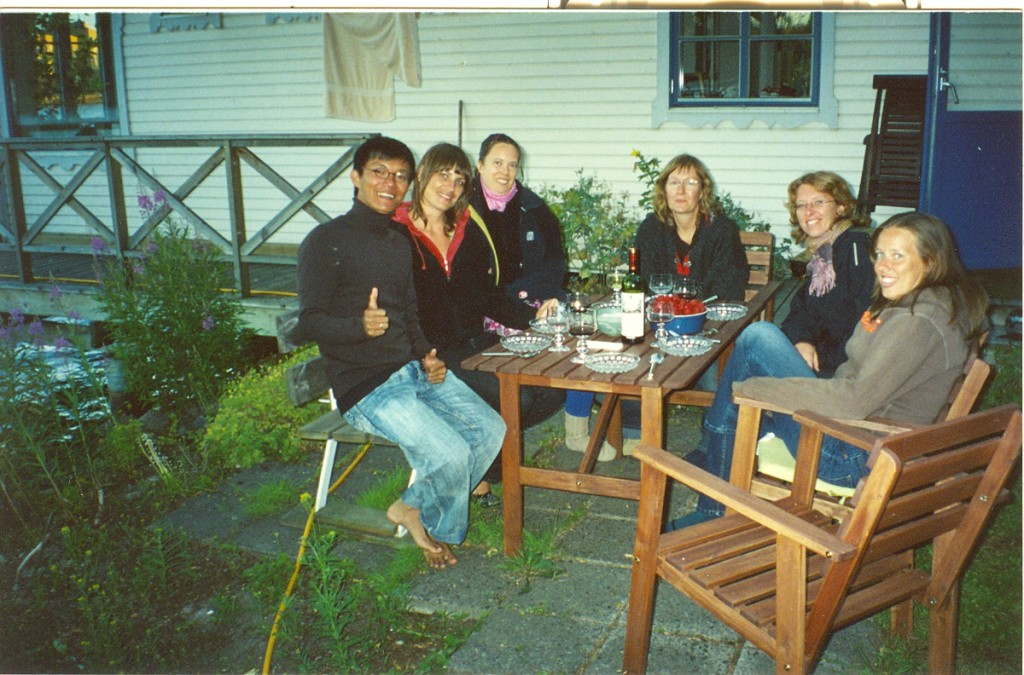 With my Swedish friends in Stockholm, Sweden, 2006