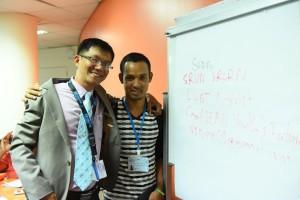 Tong Soprach's friend Srorn Srun, Human Rights Activist. Pornvit Visitoran