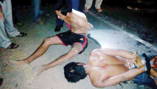 The rice truck driver and his assistant were tortured by police military in Prey Veng province.