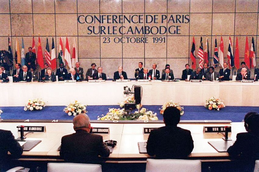 The Paris Peace Accord Agreement in 25 years ago. Photo: Facebook