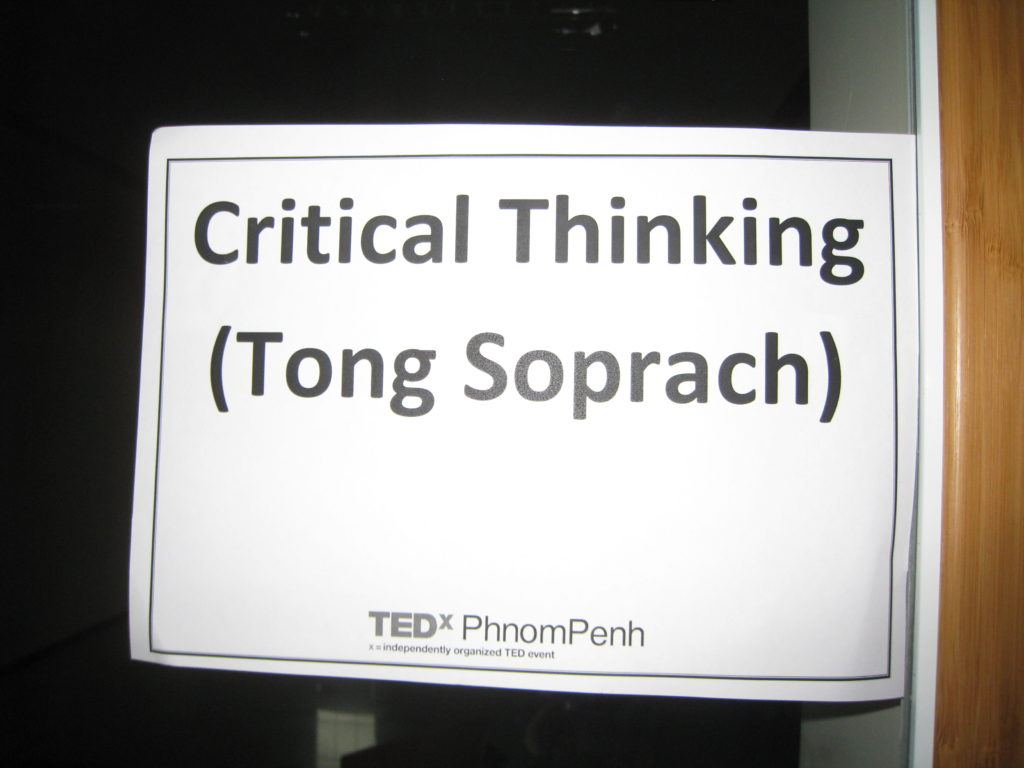 25-min Lecture on Critical Think, TEDx Phnom Penh, Zamen University, 2011.