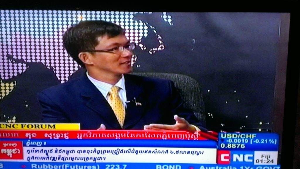 Soprach shared his perspectives on Harmonization in Cambodian Society, CNC-TV, 2013.