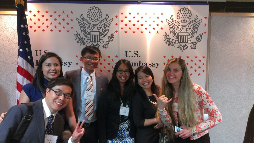 Soprach and other Young Leaders at US Embassy in Tokyo, May 2015.