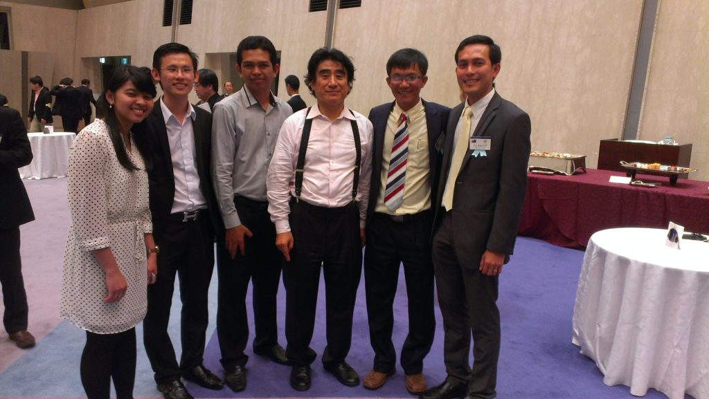 Dr Handa and Cambodian Delegation in Tokyo, May 2015 by Pacific Forum CSIS
